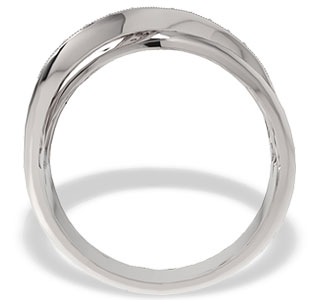 Diamonds 14ct white gold ring LP-30B