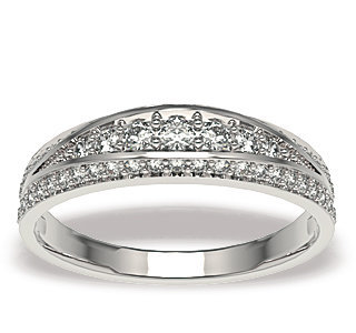 Diamonds 14ct white gold ring LP-49B