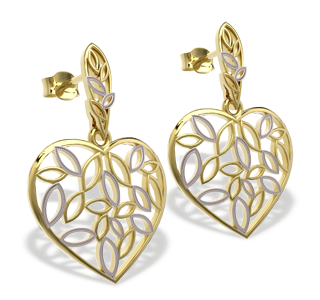 Gold earrings posts LPK-31Z-R