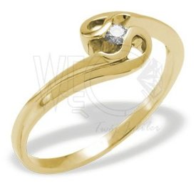 14ct yellow gold ring with cubic zirconia JP-11Z-C