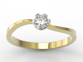 Diamond 14 ct white & yellow gold LP-8718ZB
