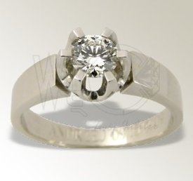 Diamond solitaire 14ct white gold ring JP-39B